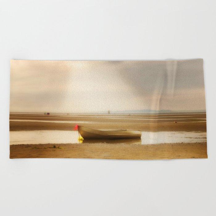 White Rock Rowboat II Beach Towel