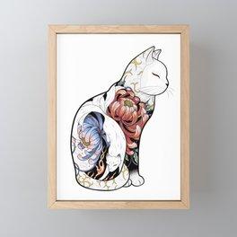 Kitsune Cat Tattoo Framed Mini Art Print
