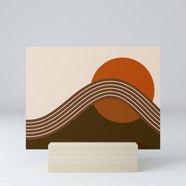 Cocoa Sundown Stripes Mini Art Print