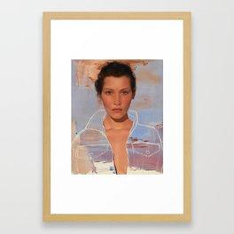 bella hadid + helen frankenthaler Framed Art Print