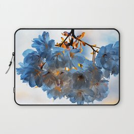 SPRING BLOSSOMS - IN BLUE Laptop Sleeve
