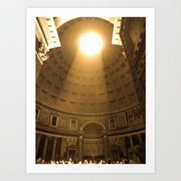 Inside the Pantheon  Art Print