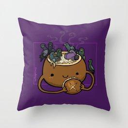 Food Series - Chowder Bread Bowl Throw Pillow