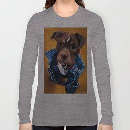Pittie in a Jean Jacket Long Sleeve T-shirt