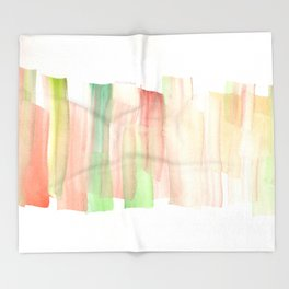[161228] 19. Abstract Watercolour Color Study|Watercolor Brush Stroke Throw Blanket