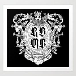 GBMC - The Gentlemans Beard and Mustache Coalition Art Print
