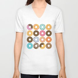 Donut Pattern Unisex V-Neck