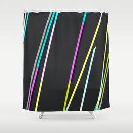 thin strips on black Shower Curtain