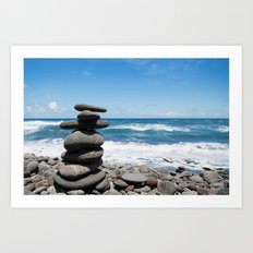 Rock tower Art Print