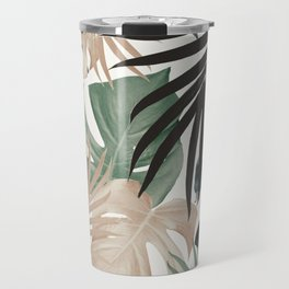 Tropical Jungle Leaves Pattern #13 (Fall Colors) #tropical #decor #art #society6 Travel Mug