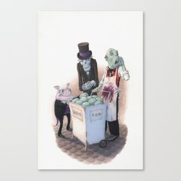 Gourmets Canvas Print