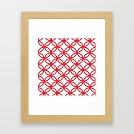 Interlocking Red Framed Art Print