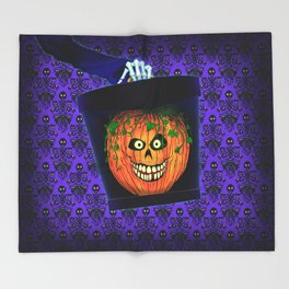 Hatty Halloween! Throw Blanket