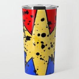 CaptainMarvel Splatter Logo Travel Mug