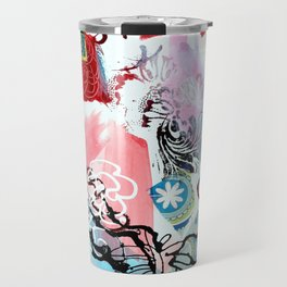 Collaged Abstract Travel Mug