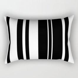 Minimalist Era - Black & White Stripe Asymmetrical Rectangular Pillow