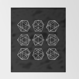 Icosahedron Throw Blanket