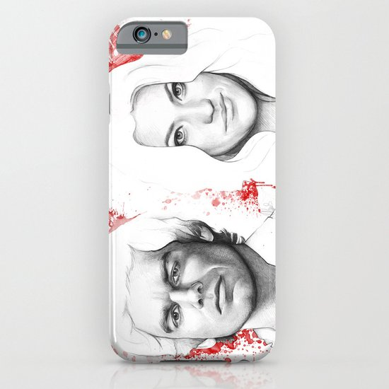 Dexter and Debra iPhone & iPod Case