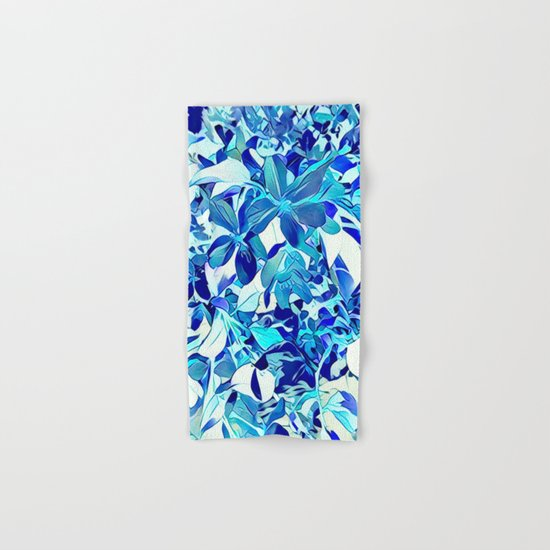 Blue sakura Hand & Bath Towel