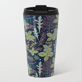 dark herbs pattern Metal Travel Mug