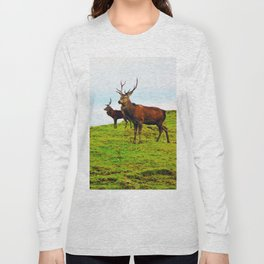 Stags on the hill Long Sleeve T-shirt
