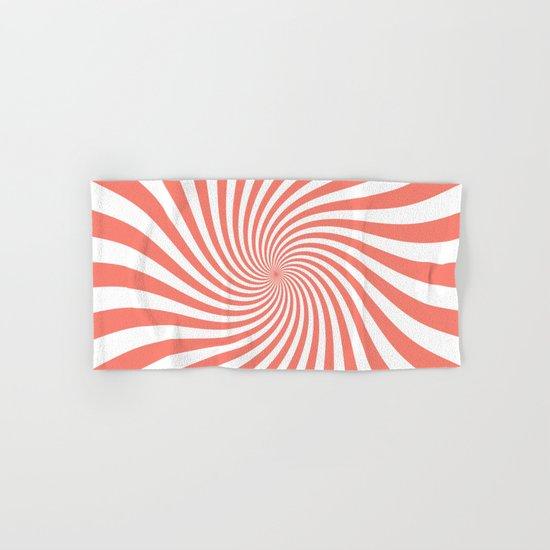 Swirl (Salmon/White) Hand & Bath Towel