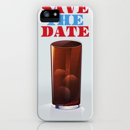 Save the date vintage soda ad. iPhone Case