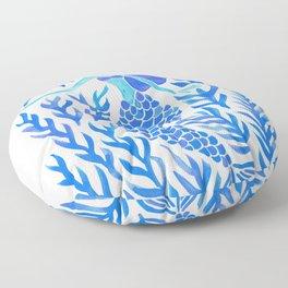 Kelp Forest Mermaid – Blue Palette Floor Pillow