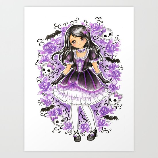 Gothic Lolita Art Print