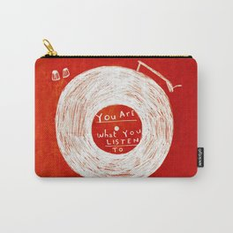 you are what you listen to, RED Carry-All Pouch
