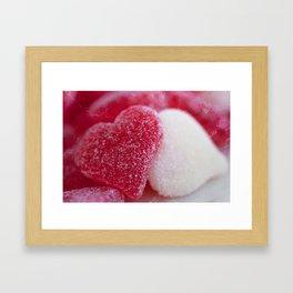 Be My Gummy Heart Framed Art Print