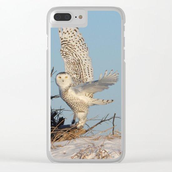 Snowy Ballerina Clear iPhone Case