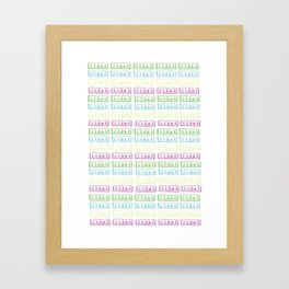 Pastel Lino Pattern Framed Art Print