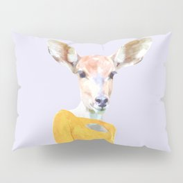 Fashionable Antelope Illustration Pillow Sham