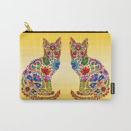 Flowery Kitty Carry-All Pouch