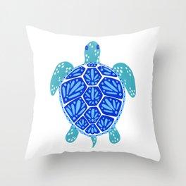 Sea Turtle – Blue Palette Throw Pillow