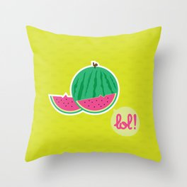 Watermelon - CosmoLOL!icious Throw Pillow