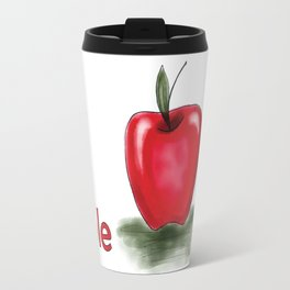 a is for apple, children alphabet for kids room and nursery Travel Mug