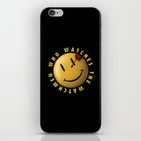 watchmen iPhone & iPod Skins featuring Who Watches The Watchmen? by Jack Allum