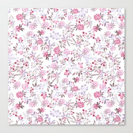 Watercolor floral pattern . Canvas Print
