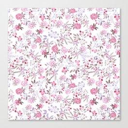 Watercolor floral pattern . Canvas Print