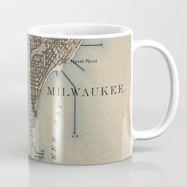 Vintage Map of Milwaukee Wisconsin (1899) Coffee Mug