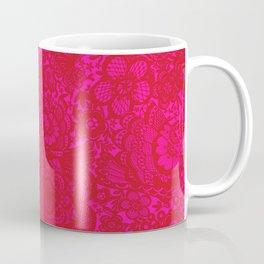 Christmas Brocade Lace with Doves Coffee Mug