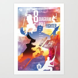 Shaw Brothers Poster Series :: 8 Diagram Pole Fighter Art Print