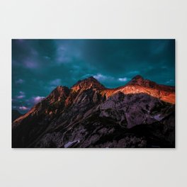 The Volcano Mountain (Color) Canvas Print