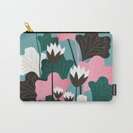 Lotus Scene Carry-All Pouch