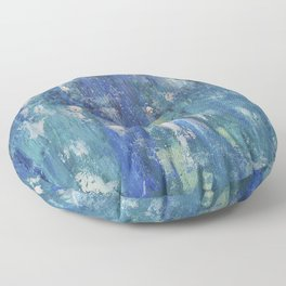 Abstract blue Floor Pillow