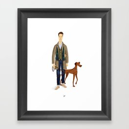 mr. Alden Framed Art Print