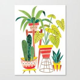 Happy Plants Happy Home Canvas Print