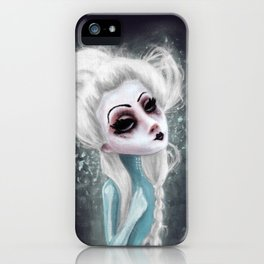 black cold surrounds me iPhone Case